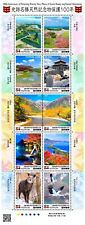 2020 Japan Historic spot Natural monument protection 100 years 10 stamps Unused