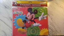 Disney Junior MICKEY MOUSE CLUBHOUSE 12 Theme PLACEMATS. 13 X 10.5.