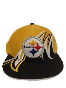 NEW Vintage Pittsburgh Steelers Shark Tooth Embroidered Snapback Hat 🔥