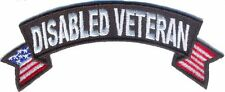 DISABLED VETERAN Small Rocker PATCH Embroidered Military Biker Jacket Emblem