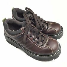 Skechers Women's Size 8 Brown Leather Lace-Up Chunky Sole Oxford Shoes