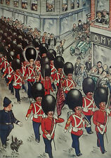 British Army Kings Guard Who Kept On Growing Patrick Bellew 1932 Page Print 7281