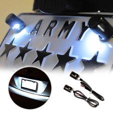 12V White 5730-SMD Bolt-On LED License Plate Lights For Car or Motorcycle Bike