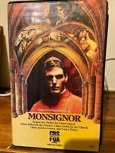Monsignor VHS Ex-rental tape CBS Fox video 1982 Christopher Reeve Vatican mob