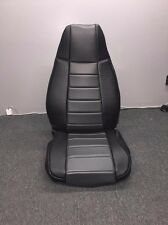 Jeep Wrangler YJ Gray Custom Seat Covers Front & Rear Syn Leather Perfect Fit