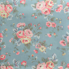 "Cath Kidston Half Yard Cotton Fabric 55""(140cm) Wide_Westbourne Rose Blue PF010"