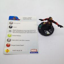 Heroclix Hammer of Thor set Star-Lord #025 Uncommon figure w/card!