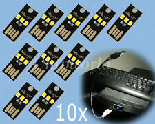 10* Mini USB LED Card Lamp mobile power For outdoor Computer Netbook Keyboard