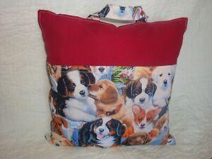 Handmade Travel Pillow,  Reading Book Pillow Puppy Dog, Reading Pocket Pillow