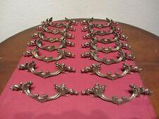 Vintage Lot of 14 Brass Cabinet Drawer Hardware Handles