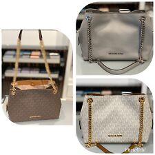Michael Kors Womens Small Medium Leather Bag Handbag Purse Messenger Brown Grey