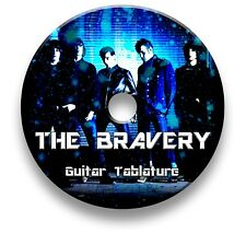 THE BRAVERY ROCK GUITAR & BASS TAB TABLATURE SONG BOOK SOFTWARE CD
