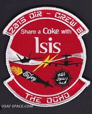 """USAF 968th EXPEDITIONARY AIRBORNE AIR CONTROL SQ - SHARE A COKE ISIS - 5"""" PATCH"""