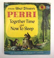"Vtg 1957 Golden Record 6"" 78RPM Disney's Perri Together Time # D394"