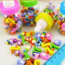 H 30X Rubber Pencil Eraser Set Stationery Kid Children Novelty Number Animal Toy