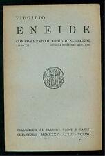 VIRGILIO ENEIDE LIBRO XII CHIANTORE 1935 CLASSICI GRECI E LATINI