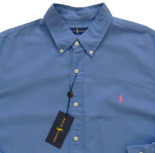 Men's RALPH LAUREN Gray Blue Pinpoint Cotton Shirt 3XB BIG 3X NWoT MiNoR DeFeCt