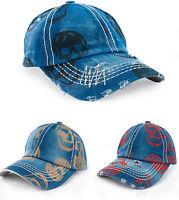 Men Women Skull Baseball Cap Snapback Outdoor Sports Hats Adjustable Snap Back