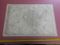 100% ORIGINAL LARGE BIRMINGHAM CITY CENTRE MAP BY CASSELL C1863 RAILWATS