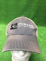 Rare Duncan Aviation Strap back Hat Cap Distressed Faded Fast Free Shipping