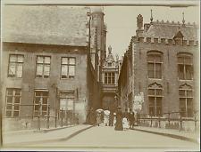 Belgique, Scène de Vie, Promenade, Ombrelles  Vintage citrate print Tirage c