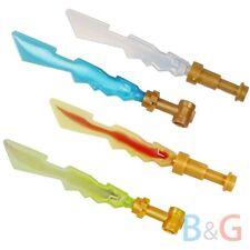 Lego Ninjago Ninja Set of 4 ELEMENTAL BLADES Minifigure Swords Weapons 70505