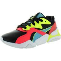 Puma Womens Nova L Patent Black Leather Sneakers Shoes 6 Medium (B,M) BHFO 2467