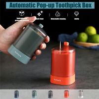 Automatic Pop-up Toothpick Storage Box Holder Container Dispenser Portable Push