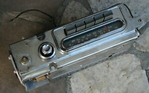 Plymouth 1959 Savoy, Belvedere  AM Vintage Car Radio-Stereo MoPar 855 Works