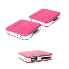 2 2200MAH EXTERNAL PINK BATTERY MOBILE CHARGER USB IPHONE 4S 4 3GS IPOD CLASSIC