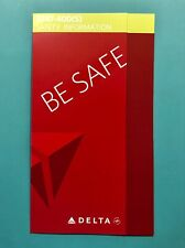 DELTA AIRLINES SAFETY CARD--747-400