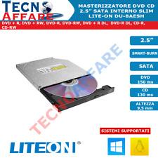 Masterizzatore Interno 9,5 mm Sata Slim CD DVD Lite-On DU-8AESH
