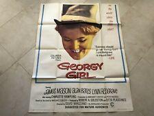"Vintage 1966 Georgy Girl Original Movie Poster James Mason Lynn 41"" x 53"" RARE"