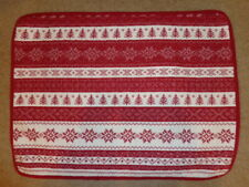 Red/Ivory Snowflake & Christmas Tree Fair Isle Quilted Standard Pillow Sham (1)
