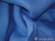 Stoff♥Leinen mittelblau blau♥mittelschwer Qualität Bio-washed Leinenstoff 144g/m
