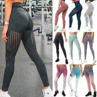 Seamless Women PUSH UP Yoga Pants Workout Compression Leggings Stretch Trousers
