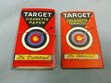 Lot of 2 Vintage Unused Target Smoking Tobacco Cigarette Rolling Papers 1931
