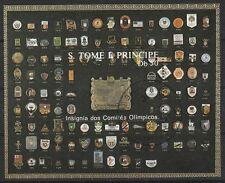 V304 p. tome & principe/Olympia 1988 MiNr bloc 185 O