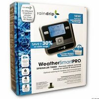 Raindrip Weather Smart Pro 6-Station Electronic Sprinkler Timer RSC600IS
