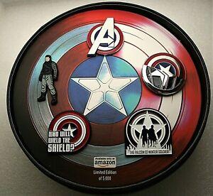 2020 Marvel Comics Captain America Winter Soldier Exclusive 5 Pin Set New MIB