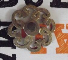 Ancienne Poignée métal doré 1970 vintage motif géométrique