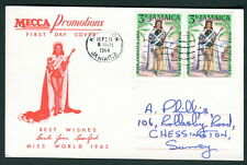 1964 Jamaica FDC Mecca Promotions Miss World first day card