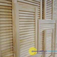 Single Louvre Door/Vented Open Slatted/Natural Pine/Wardrobe&Cabinet Doors/SALE