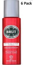 6 x BRUT déodorant spray Corporel 200 ml - attraction totale