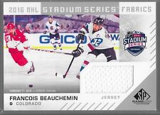 16/17 SP Game Used Stadium Series Jersey Francois Beauchemin CA-FB Avalanche