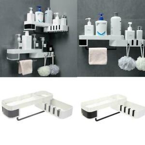 Shower Rack Shelf Bathroom Corner Storage Organiser Basket Tidy Suction L9S9