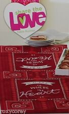 Valentine's Day Home is Where the Heart is Table Runner 13x36 in NWT