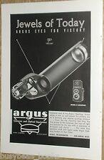 1944 Argus advertisement, Argus Spotting Scope cutaway, war optics work