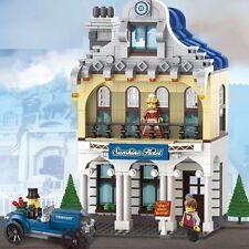 NEW OF Enlighten Building Bricks toys Zi Guang Yuan Hotel Villa /628 PCS