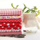 7 PCS Assorted Pre-Cut Plain 100% Cotton Quilt Cloths Fabrics For Sewing Red